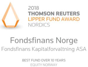 Fondsfinans Norge - beste fond siste 10 år