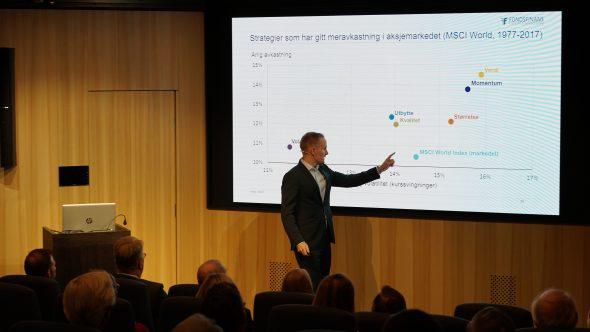 Harald Berge presenterer utbyttefondet Fondsfinans Utbytte