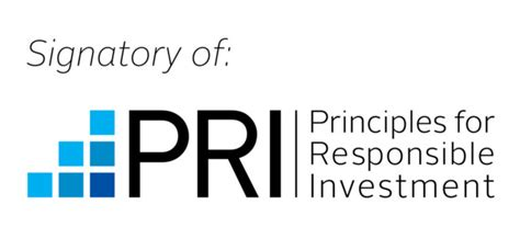 Principles for Responsible Investments. Logo.